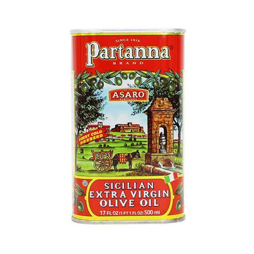 Extra Virgin Olive Oil Tin from Sicily (500 ml) by Partanna - 16.9 fl oz