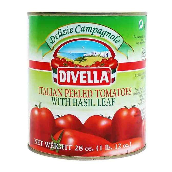 Peeled Whole Tomatoes with Basil (800 grams) by Divella - 28 oz