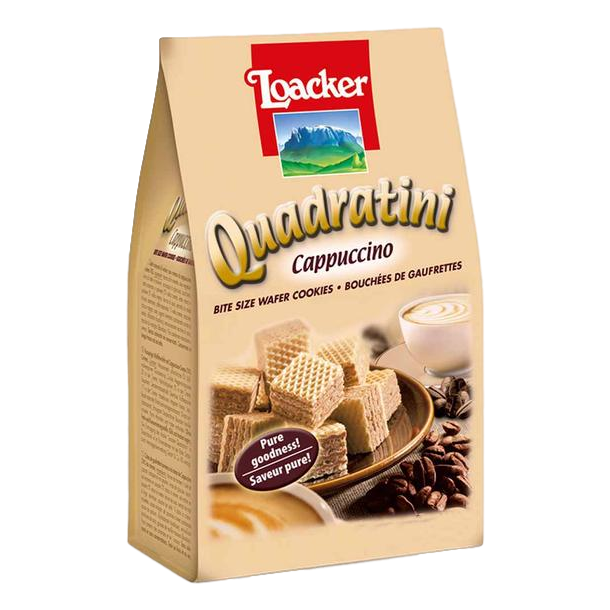 "Wafers w/ Cappuccino Cream Filling ""Quadratini"" by Loacker -  7.76 oz"