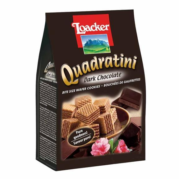 "Wafers w/ Dark Chocolate Cream Filling ""Quadratini"" by Loacker -  8.82 oz"