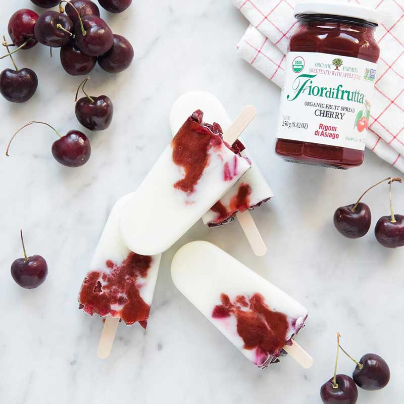 Organic Fruit Spread Cherry Jam by Rigoni di Asiago - 8.82 oz