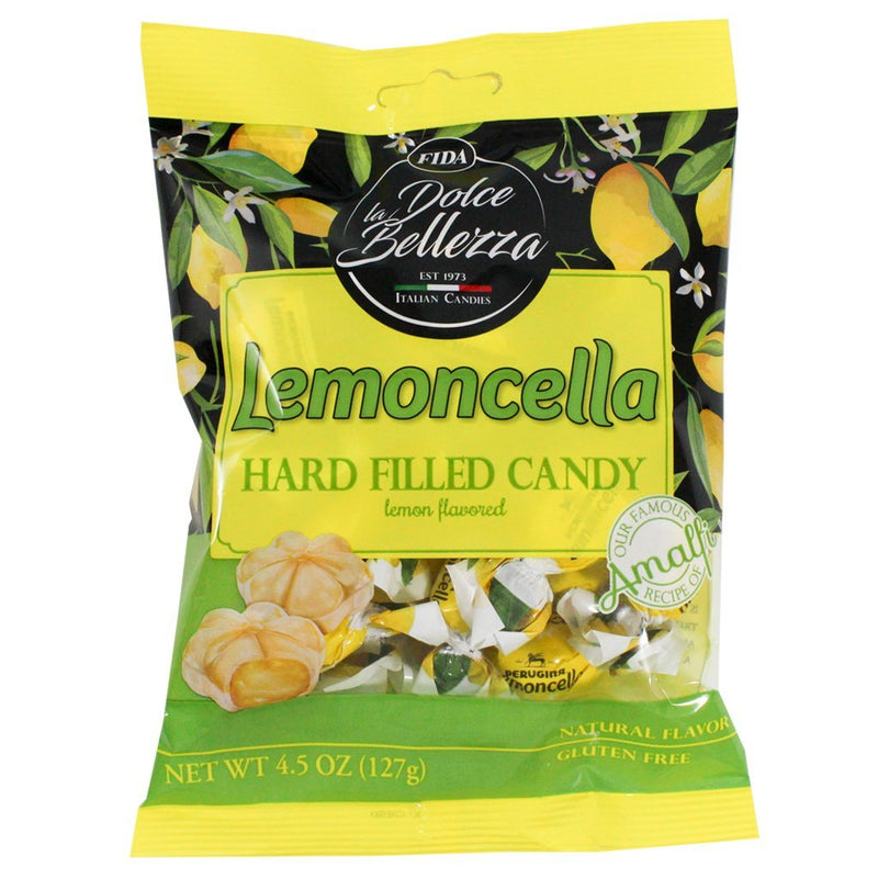 Lemoncella Hard Filled Lemon Flavored Candy by La Dolce Bellezza - 4.5 oz