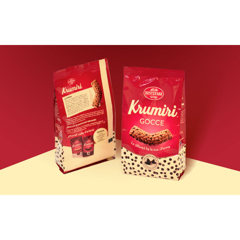 Krumiri Gocce with Drops of Chocolate by Bistefani - 10.5 oz