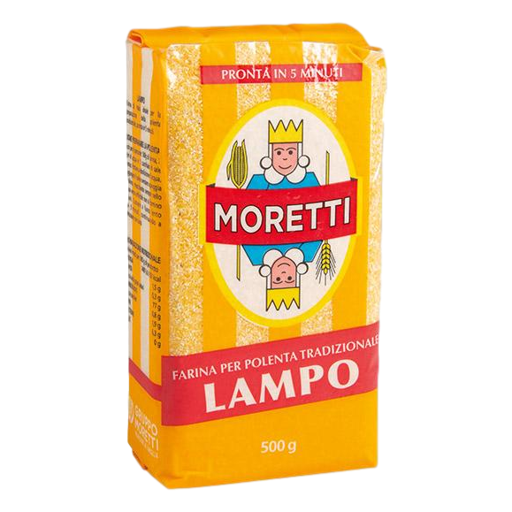 Quick-Cooking Yellow Maize Flour Polenta by Moretti - 1.1 lb