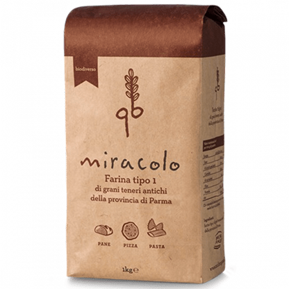 "Miracle Soft Wheat Flour ""Type 1"" (1 kg) by Molino Grassi - 2.2 lb"