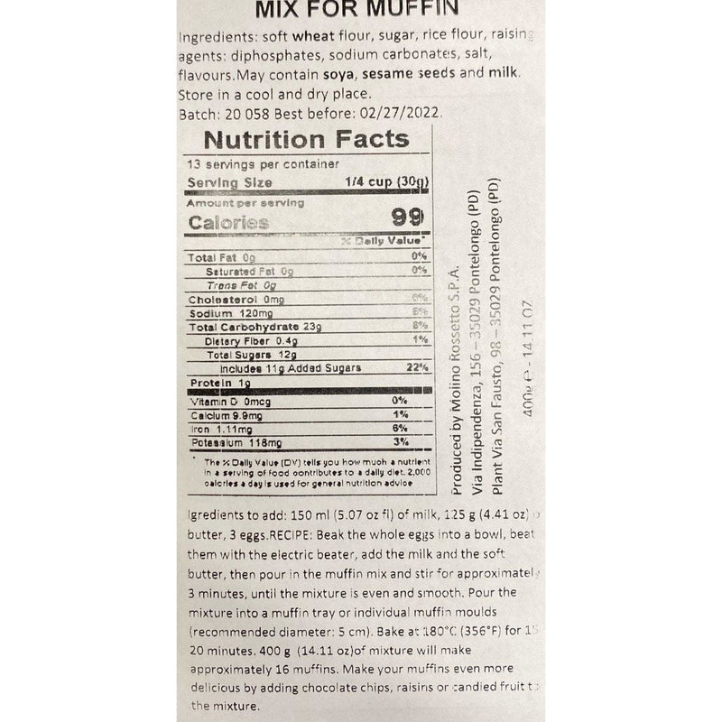 Mix for Muffin by Molino Rossetto - 14.1 oz