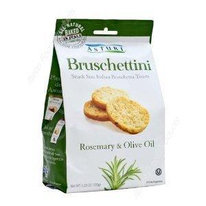 Bruschettini Toasts with Rosemary and Olive Oil by Asturi - 6 packs x 4.2 oz