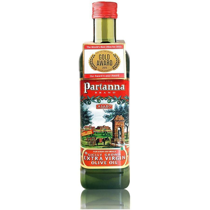 Extra Virgin Olive Oil Bottle from Sicily (750 ml) by Partanna - 25.5 fl oz