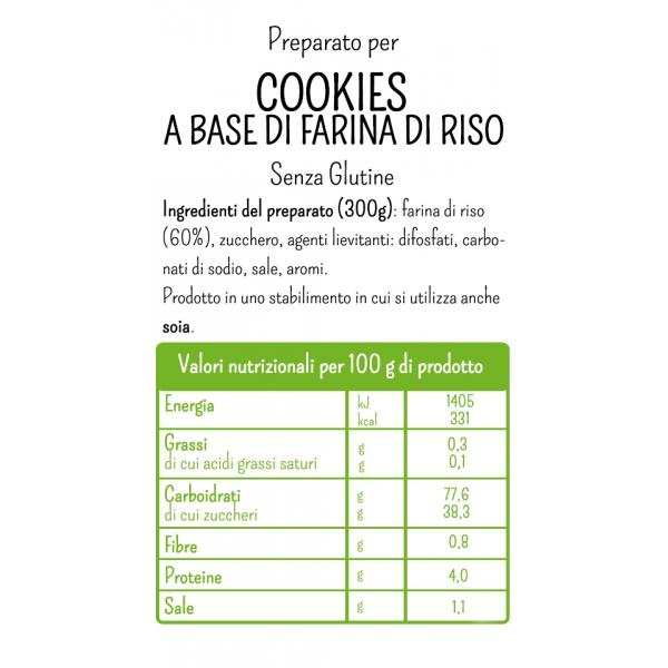 Gluten Free Mix for Cookies with Rice Flour by Molino Rossetto - 10.58 oz