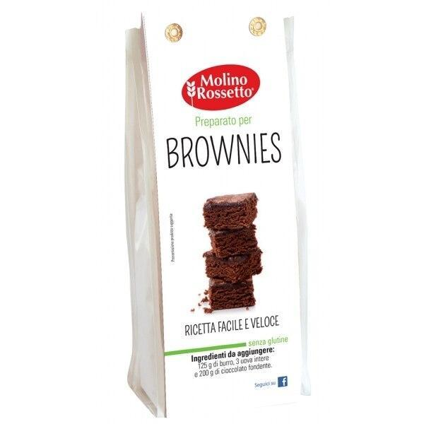 Gluten Free Mix for Brownies by Molino Rossetto - 10.58 oz