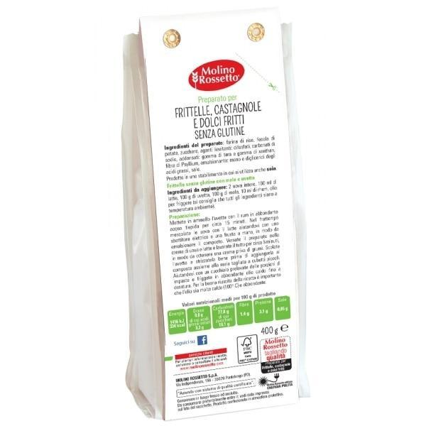"Gluten Free Mix for Fried Sweets ""Frittelle"" by Molino Rossetto - 14.1 oz"