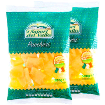 Fresh Pasta Paccheri by I Sapori del Vallo (2 packs x 17.6 oz) - Total 35.2 oz