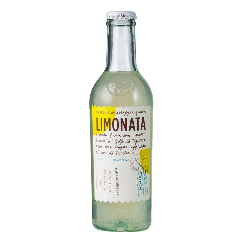 Lemonade Sparkling Soda Bottles by Niasca Portofino (pack of 4) - 8.45 fl. oz. (Total 33.8 fl. oz.)