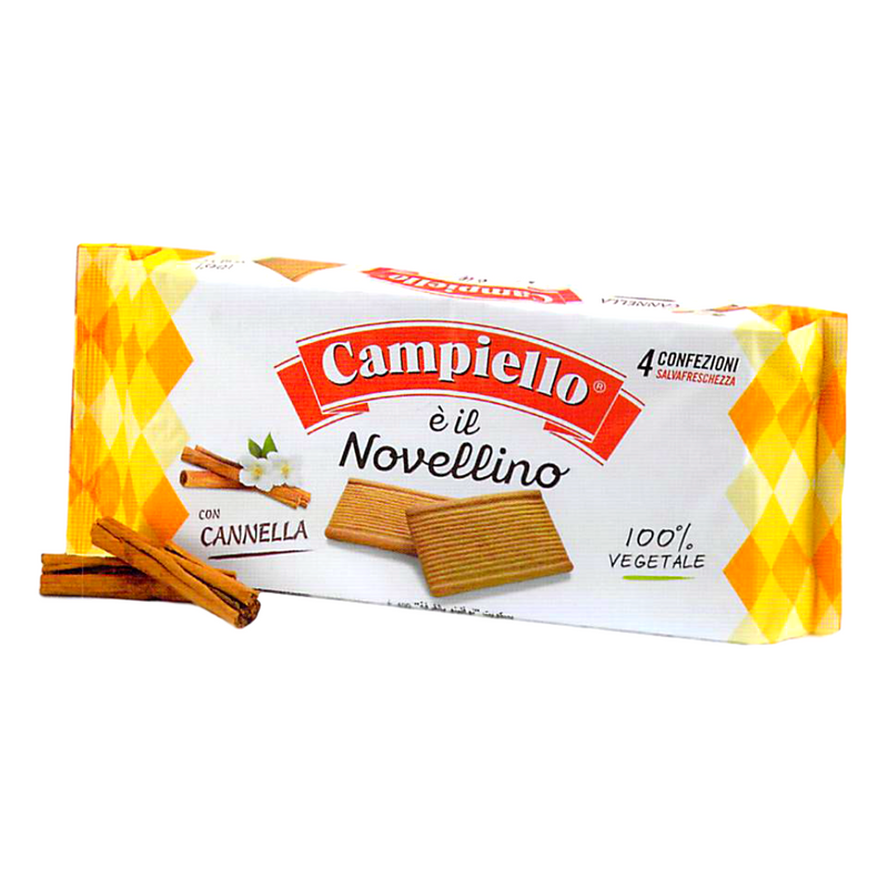 "Vegan Cinnamon Cookies without Milk & Eggs ""Novellino"" by Campiello - 12.3 oz"