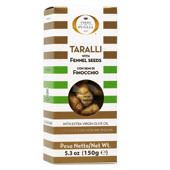 Taralli Salt Biscuits with Fennel Seeds by Terre di Puglia - 5.3 oz