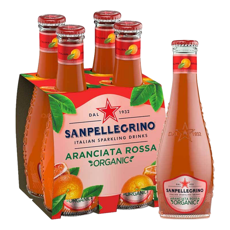Organic Sparkling Blood Orange Beverage by Sanpellegrino - 4 bottles x 6.75 fl oz