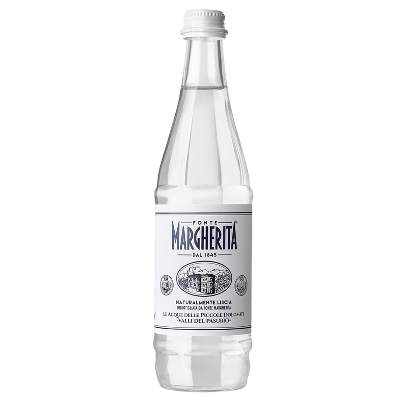 Prized Still Spring Water from Italy by Fonte Margherita | 12 Glass Bottles x 27 fl oz