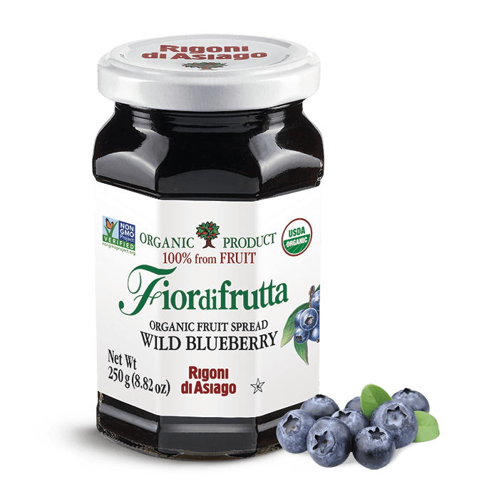 Organic Fruit Spread Wild Blueberry Jam by Rigoni di Asiago - 8.82 oz