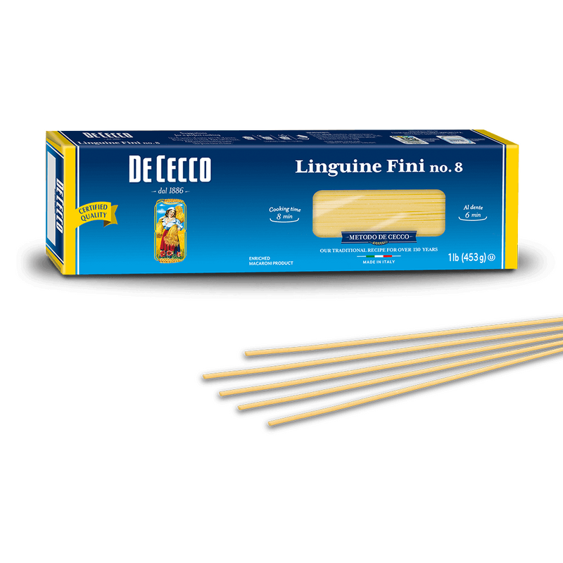 Linguine Fini Pasta from Italy by De Cecco no. 8 - 1 lb