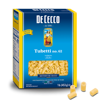 Tubetti Pasta from Italy by De Cecco no. 62 - 1 lb