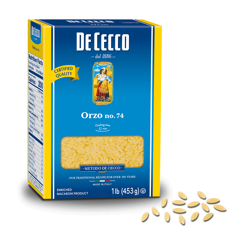 Orzo Pasta from Italy by De Cecco no. 74 - 1 lb