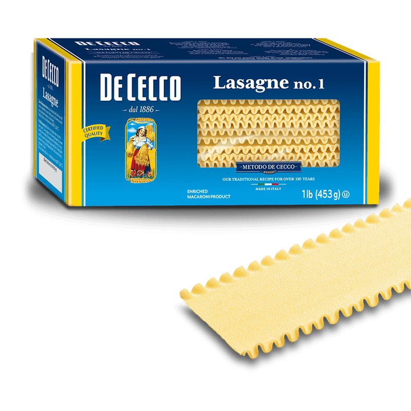 Lasagne Pasta from Italy by De Cecco no. 1 - 1 lb