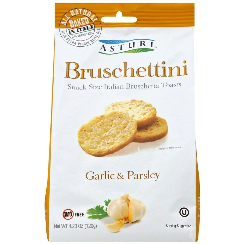 Bruschettini Toasts with Garlic & Parsley by Asturi - 4.2 oz. - Italian Food Online Store