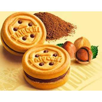 Mulino Bianco Sweet Bakery Baiocchi Cookies with Hazelnut and Cocoa Cream Snack Pack by Mulino Bianco - 11.8 oz.