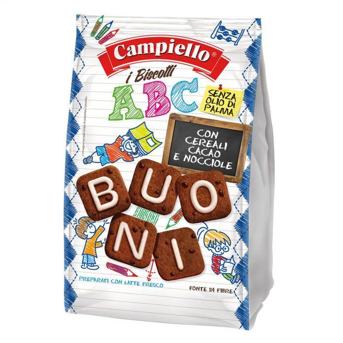 "Cookies with Cocoa Cereals & Hazelnut ""ABC"" by Campiello - 10.58 oz"