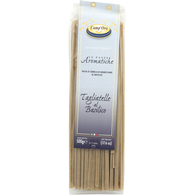 Camp'Oro Pasta Tagliatelle Italian Pasta with Basil by Camp'Oro - 17.6 oz.