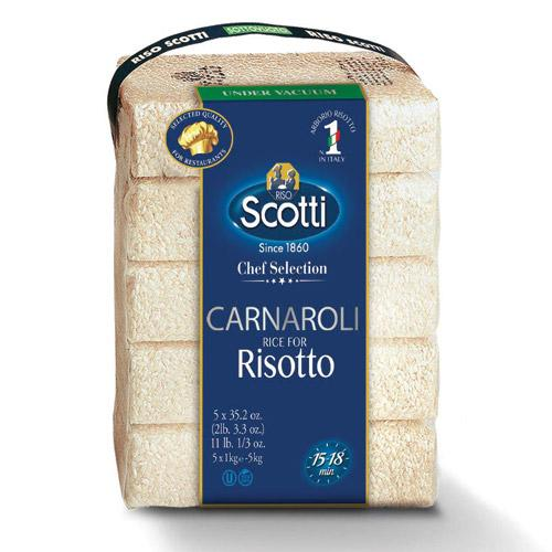Carnaroli Rice Bulk Risotto (5 packs x 2.2 lb) by Scotti - 11 lb