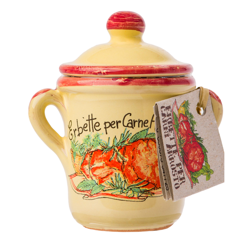 Italian Spice Mix Ready for Roast Meat in a little Ceramic Pot by Casarecci di Calabria - 0.17 oz