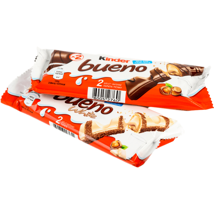Ferrero Snack Kinder Bueno White & Chocolate Wafer Cookies (Double pack) by Ferrero - (1.5 oz x 2) TOT. 3 oz.