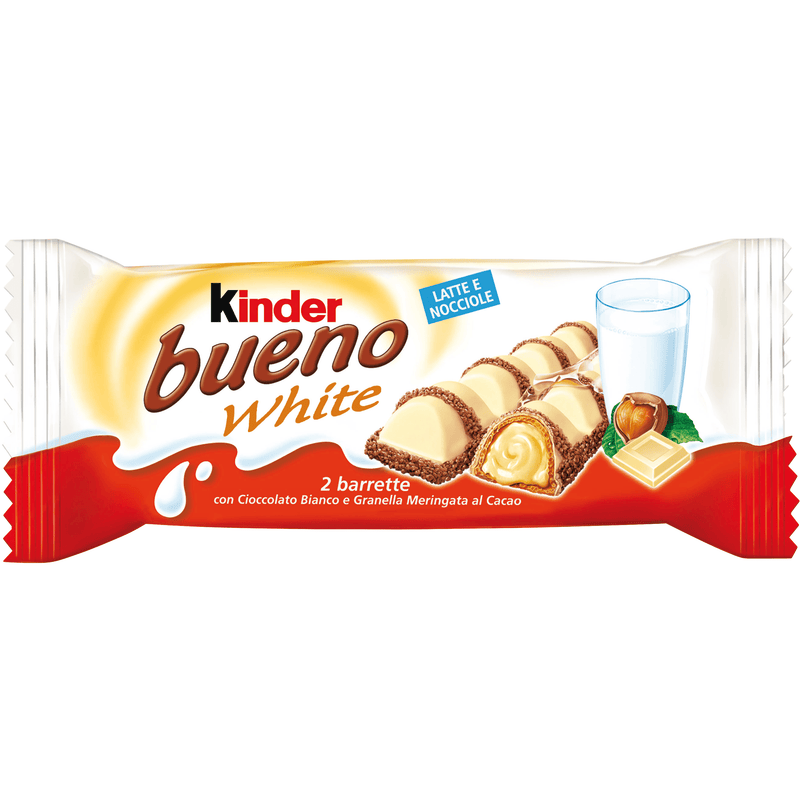 Ferrero Snack Kinder Bueno White Wafer Cookies (2 bar in 1 pack) by Ferrero - 1.5 oz.