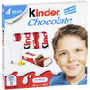 Ferrero Snack Kinder Chocolate Milk and Cocoa Chocolate - 4 bars x 0.44 oz. TOTAL 1.8 oz.