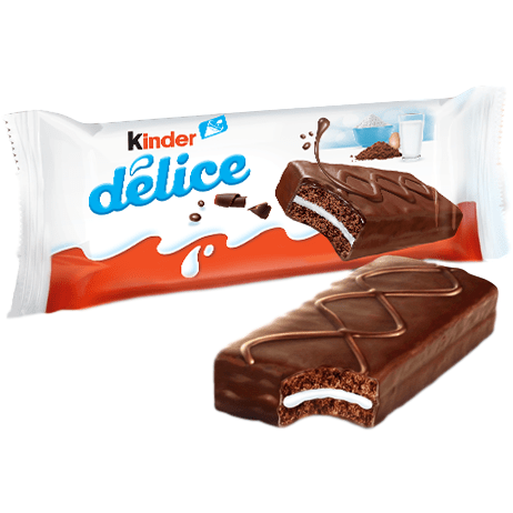 Kinder Delice (Bulk) Cocoa Chocolate Sponge Cake with Milk - 20 pieces x 1.37 oz