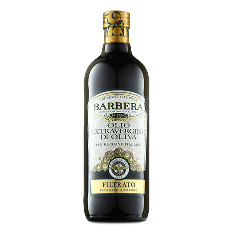 Extra Virgin Olive Oil Filtered processed w/ Cold Extraction (1 lt) by Barbera  - 33.8 fl oz