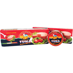 Flott Meat, Poultry & Seafood Solid Light Tuna in Pure Olive Oil by Flott - 3 x 2.8 oz. Cans (80 g)