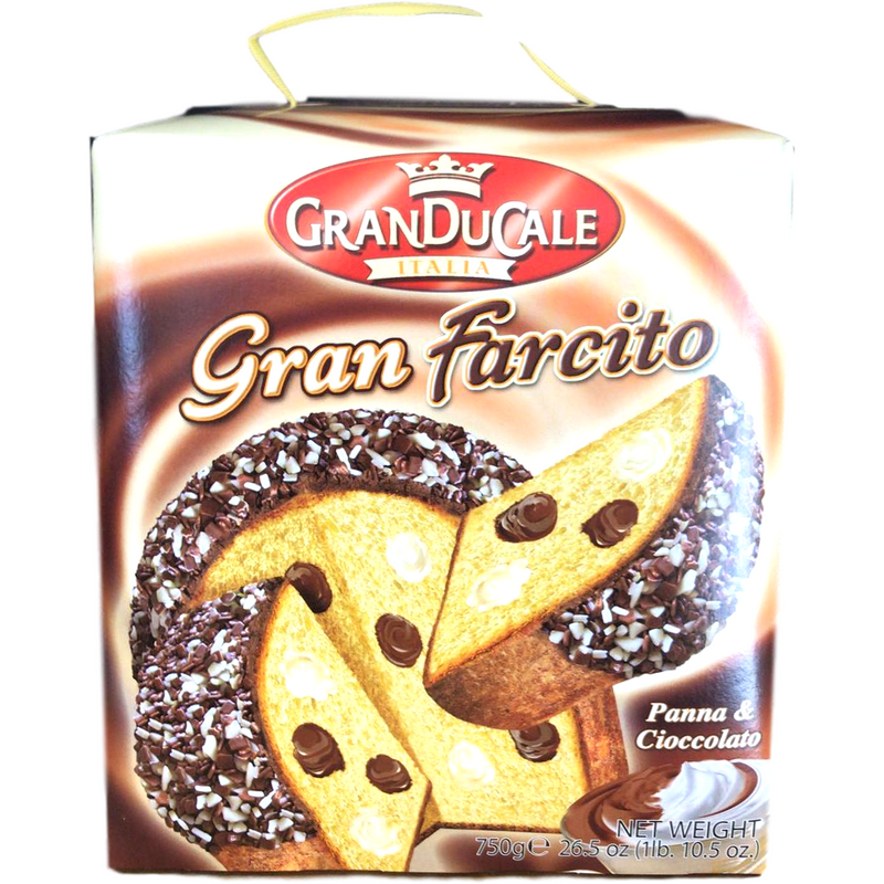 GranDucale Panettone Panettone with Cream and Chocolate Oven Baked Cake by GranDucale - 26.5 oz.