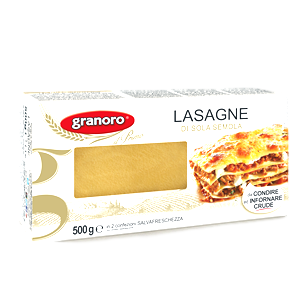 Granoro Pasta Lasagne ideal for Homemade Oven Lasagna n. 121 Italian Pasta by Granoro - 17.6 oz.