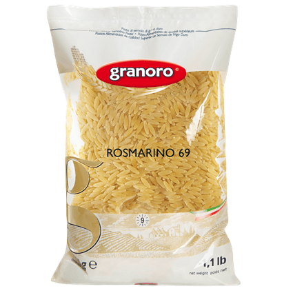 Granoro Pasta Orzo or Rosmarino Small Italian Pasta n. 69 ideal for Soup or Broth by Granoro - 1 lb