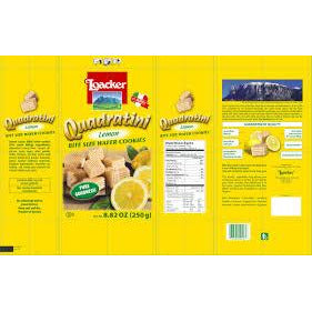 "Wafers w/ Lemon Cream Filling ""Quadratini"" by Loacker -  8.82 oz"