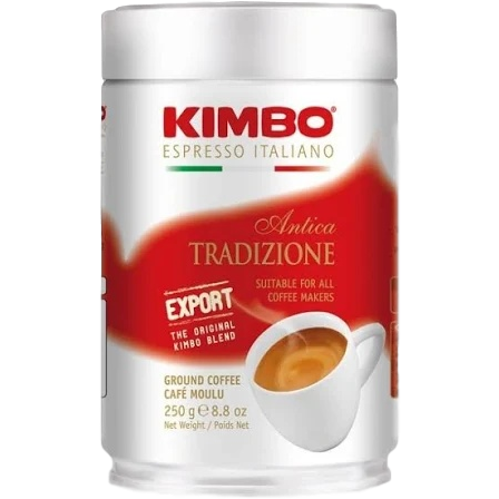 Kimbo Coffee Caffe Aroma Espresso Ground Coffee Can by Kimbo - 8 oz.