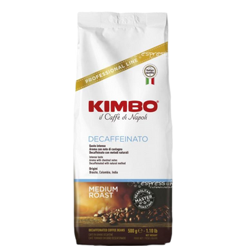 Espresso Decaffeinated Professional Line Whole Beans by Kimbo - 1.1 lb