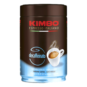 Decaffeinated Ground Espresso Coffee Espresso Can by Kimbo - 8.8 oz