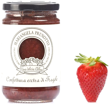 Mariangela Prunotto Jam Strawberry Extra Jam by Prunotto - 7.5 oz.