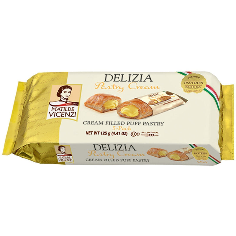Matilde Vicenzi Sweet Bakery Pastry Cream Filled Puff Pastry Delizia by Vicenzi - 4.41 oz.