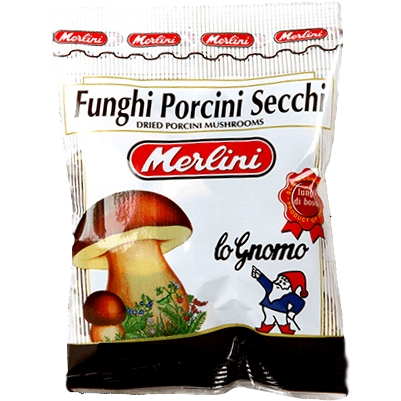 Dry Porcini Mushrooms (Porcini Secchi 10 gr.) by Merlini - 0.35 oz. - Italian Food Online Store
