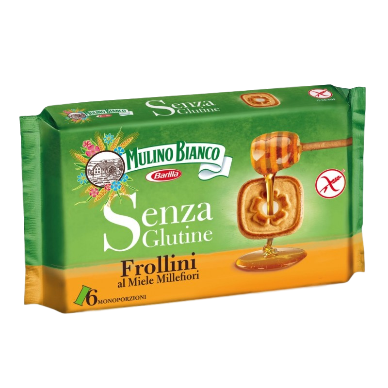 Frollini Gluten Free Cookies with Honey by Mulino Bianco - 8.8 oz. - Italian Food Online Store
