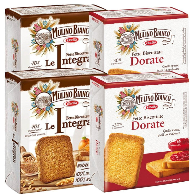 Mulino Bianco Sweet Bakery Mulino Bianco Selection - 4 packs of Rusks - Total weight 44 oz.